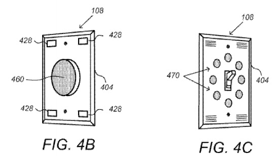 "Above: Google's smart wall switch concept, in the patent application ""Security Scoring in a Smart-Sensored Home."" Image Credit: Screen shot"