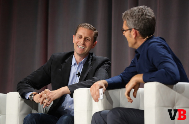 Above: Mark Howard, CRO of Forbes, with Matt Marshall of VentureBeat at MobileBeat 2015. Image Credit: Michael O'Donnell/VentureBeat