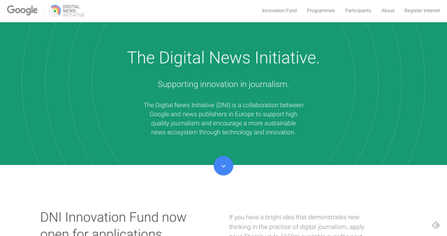 The Digital News Initiative – Google