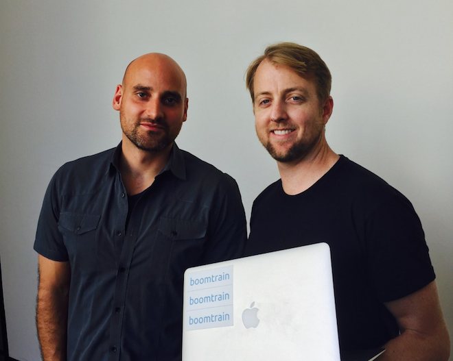 Above: Boomtrain's co-founders Christian Monberg, President & CTO (left), and Nick Edwards, CEO, (right).