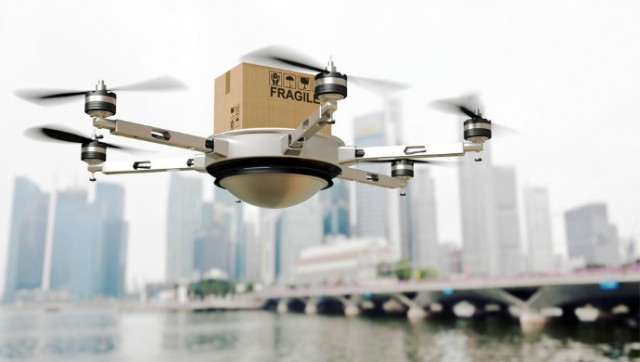 Drone depicted in photo not the same one used by SingPost.