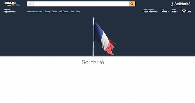 Above: Amazon's homepage banner this morning. Image Credit: Screenshot