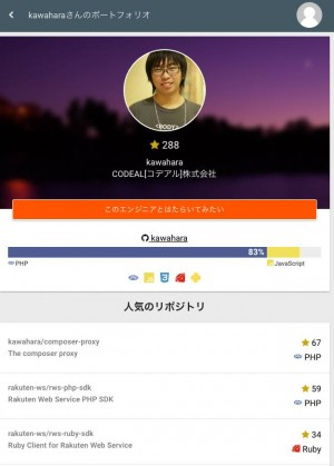 Codeal-engineer-profile-page