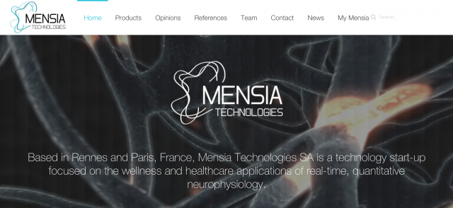 Mensia-website