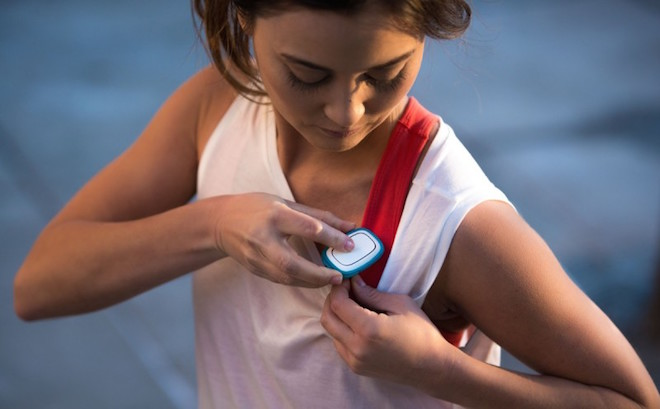 Above: Revolar's panic button can be worn on or under your clothing. Image Credit: Revolar