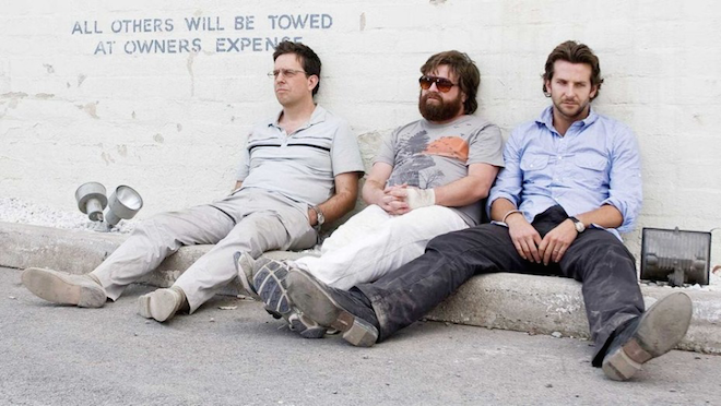 Above: A scene from Warner Bros 2009 movie The Hangover.