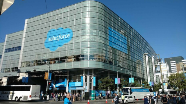 Above: Salesforce's Dreamforce conference in San Francisco in September 2015. Image Credit: Jordan Novet/VentureBeat