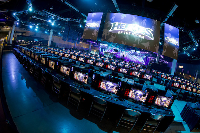 Above: A scene from Heroes of the Storm at BlizzCon. Image Credit: Blizzard Entertainment