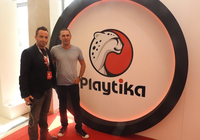 Above: Elad Kushnir (left) and Robert Antokol of Playtika. Image Credit: Dean Takahashi