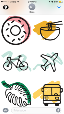 Above: Some of Afar's stickers. Image Credit: Screenshot