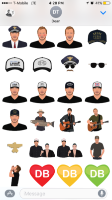 Above: Dierks Bentley stickers. Image Credit: Screenshot