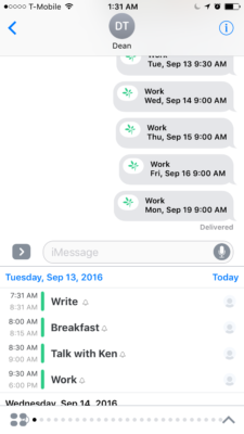 Above: TimeTree's iMessage app. Image Credit: Screenshot