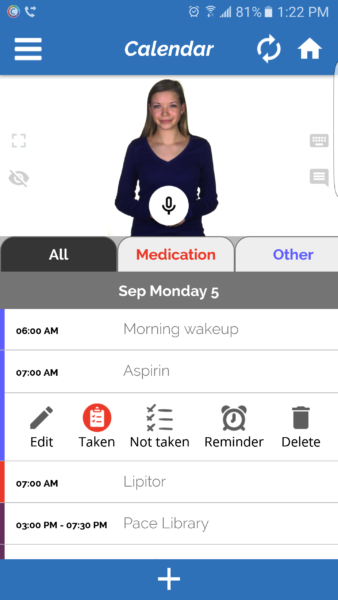 Abby the personal assistant on the Companion app by Identifor Image Credit: Identifor
