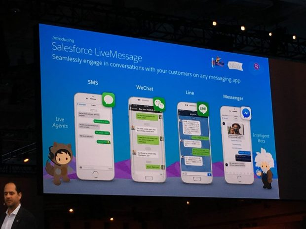 Above: Salesforce LiveMessage Image Credit: Ken Yeung/VentureBeat