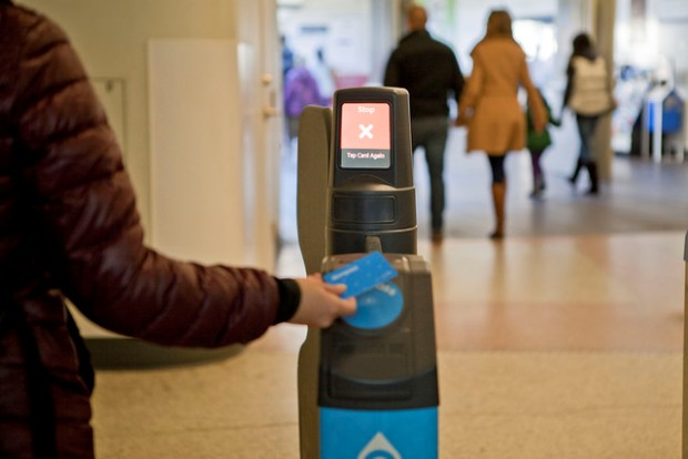 Image Credit: TransLink Compass Card Tap in/out via Flickr by GoToVan
