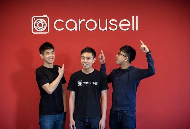 Carousell's founding team. Photo credit: Carousell.
