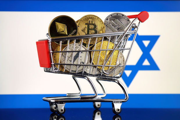 Israel-cryptocurrencies-shopping-trolley
